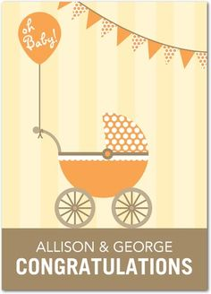 Congratulations Greeting Cards Oh Baby Buggy