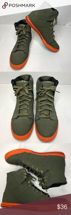ce636d943a42 Supra Muska High Top Skate Sneakers Shoes Pre-owned Men s Size 13 Skate Shoes  Supra