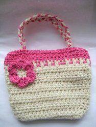 Artsy Bag for Your Little Girl - crochet free pattern