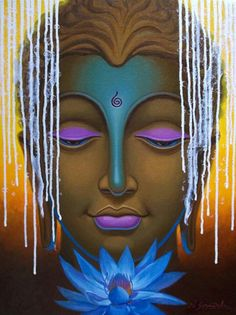 Buy Painting Buddha - 12 Artwork No 6364 by Indian Artist Nitin Sonawale Buddha Artwork, Buddha Painting, Buy Paintings Online, Online Painting, Buddha Kunst, Indian Art Paintings, Gautama Buddha, Mystique, Indian Artist