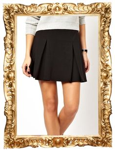 Box Pleat Skater Skirt - $32