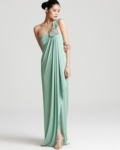 Just beautiful. Love the mint green, draping and the unique beading!
