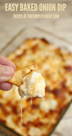 Make this easy baked onion cheese dip and they'll be raving about it!
