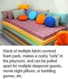fabric covered foam pads