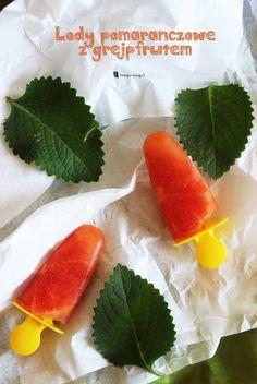 Kreatywnepiny: Lody pomarańczowo-grejpfrutowe