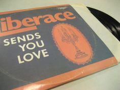 """LIBERACE """"SENDS YOU LOVE"""" 3 album set BROOKVILLE 3000 1974 12"""" 3-LP - Vintage"""