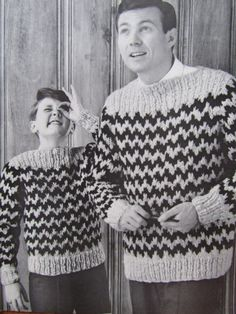 Men and Boy's Sweater Pattern 6708