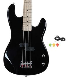 Black Full Size Electric Bass Guitar With Cord And Picks By Davison, 2016 Amazon Top Rated Bass Guitars  #Musical-Instruments