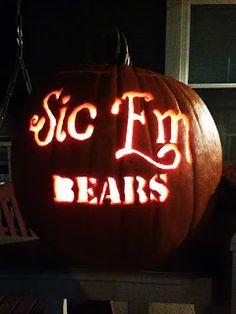 #Baylor pumpkin - sic'em bears!