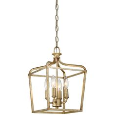 Minka Lavery Laurel Estate 4-Light Brio Gold Pendant 4445-582 at The Home Depot - Mobile
