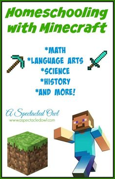 Homeschooling with Minecraft - Math, Language Arts, Science, History & More! Kids love Minecraft and this is a great way to add curriculum that's fun and educational (plus, these ideas & printables are FREE!)