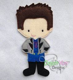 Non Paper Dolls offered by Stone House Stitchery **Outfit Only** Little Prince Non Paper Doll Embroidery Design Outfit