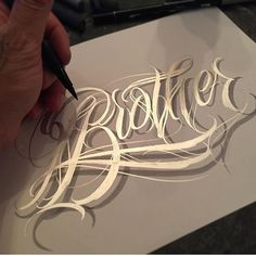 """Likes, 12 Comments - on Inst agram: """" , France Lettering Styles Alphabet, Tattoo Lettering Styles, Graffiti Lettering Fonts, Chicano Lettering, Calligraphy Tattoo, Tattoo Lettering Fonts, Hand Drawn Lettering, Creative Lettering, Lettering Design"""