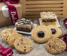 Dulcet Best Sellers Pastry Gift Box-Includes Chocolate Chip,Cranberry White Chip,Oatmeal Raisin, Peanut Butter and Chinese Cookies, Raspberry and Chocolate Crumb Cake Mother's Day Gift Baskets, Gourmet Gift Baskets, Gourmet Gifts, Food Gifts, Gourmet Recipes, Gourmet Cookies, Cool Fathers Day Gifts, Food Items, Baked Goods