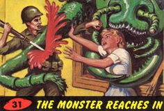 Mars Attacks! Trading Cards / #31 The Monster Reaches In