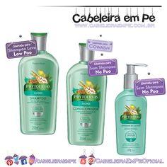 Shampoo (Low Poo), condicionador (No Poo) e ativador de cachos (No Poo) Linha Cachos (Pracaxi e Baobá) - Phytoervas