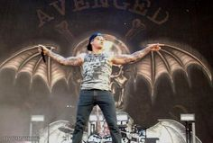 M. Shadows.  Coolest picture ever.  Love the Death Bat.