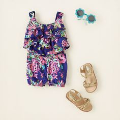 baby girl - outfits - romp around - floral fun | Childrens Clothing | Kids Clothes | The Childrens Place