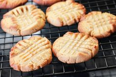 Erren's Kitchen Peanut Butter Cookies - this recipe makes beautifully soft, crisp cookies that melt in your mouth!