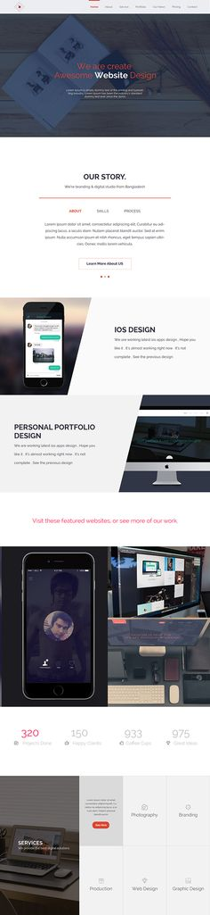 Design Agency Website Redesign on Behance