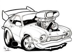 crazy car coloring pages - photo#38