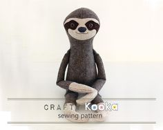 (9) Name: 'Sewing : Sloth plush sewing pattern sew your own