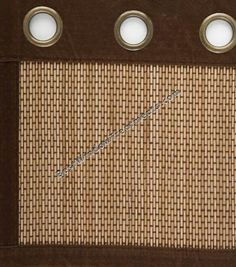 Bamboo grommet curtain panels for sliding glass door; BestWindowTreatments.com