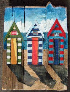 paint me a Beach hut, inspiration for childrens art activity