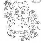 Owl Cookie Jar Embroidery Transfer Pattern