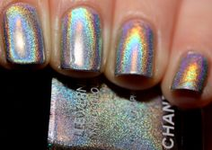 Chanel holographic polish is awesome.