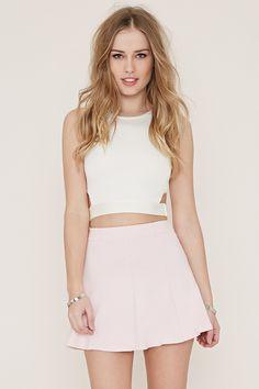 Knit Skater Skirt - Skirts - 2000168223 - Forever 21 EU English