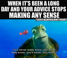 When it's been a long day and your advice stops making any sense. Social Work Humor, School Social Work, Therapy Humor, Colleges For Psychology, Work Jokes, Sarcasm Humor, Ecards Humor, Life Humor, Life Memes