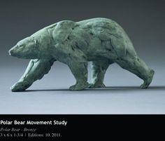 Bronze polar bear movement study, Bart Walter.