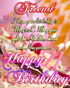 Birthday Quotes : Happy birthday quote in Birthday Quotes Funny For Her, Happy Birthday Quotes For Friends, Best Friends Funny, Birthday Wishes Quotes, Best Friend Quotes, Humor Birthday, Birthday Stuff, Birthday Messages, Birthday Gifs