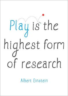 How a child plays shows their strengths and abilities in creativity and social skills.  It encourages them to think for themselves, and to be their own person.  One can learn a lot from watching a child play.