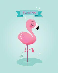 Flamingo Illustration | Vector | Clipart