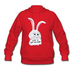 Desic Fashion The Secret Life Of Pets Rabbit Lady's Original Hoodies Tee Red XL -- Awesome products selected by Anna Churchill