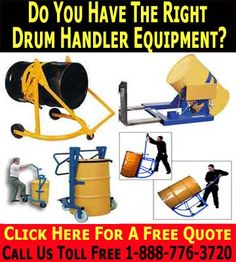 Drum Handlers When moving heavy 55 gallon drums around in a busy industrial environment, safety should be your primary concern. Plans nee...