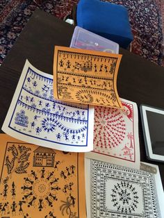 Hand made paper and sharpie pens, warli dance forms and you have amazing new year gifts for the soldiers posted at the border!