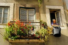 ysvoice:  | ♕ | Windows in Alfama, Lisbon | by © Sunsword