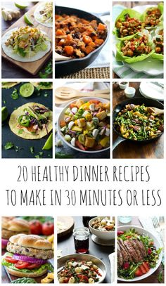 If you do not have much time. Here are 20 amazing 30 minutes healthy dinner recipes that can be made in 30 minutes or less pleasing the entire family. Easy Healthy Dinners, Healthy Breakfast Recipes, Healthy Dinner Recipes, Healthy Snacks, Healthy Eating, Healthy Recipes On A Budget, Breakfast Ideas, Hash Browns, Enchiladas