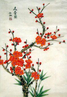 Chinese Painting: Plum - Chinese Painting CNAG234865 - Artisoo.com