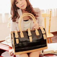 $14.99 Fashion Color Splicing Belt and Zipper Big Bag For Women