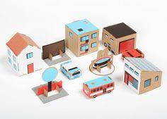 cardboard town