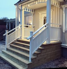 Outdoor Decor, Deck Design, House, Curb Appeal, Aluminum Railing Deck, Entrance, House Inspo, Renovations, Porch Design