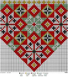 Bunad, Smykker, vev & rosemaling: Bunad Hardanger Embroidery, Folk Embroidery, Cross Stitch Embroidery, Embroidery Patterns, Knitting Patterns, Cross Stitch Borders, Cross Stitching, Cross Stitch Patterns, Peyote Patterns