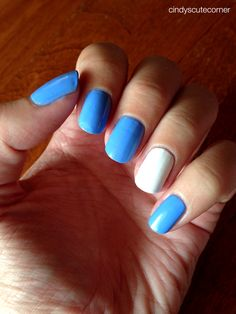 Baby Blue and White Nails Cindy s Cute Corner Light Blue Coffin Nails. Am Jettelag Claws Diy Acrylic Nails Matte.