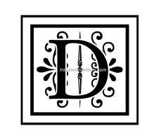 Monogram Stencil Letters Archives - Stencil Letters