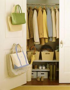 foyer closet organization