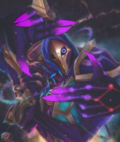 Dark Cosmic Jhin , Alejandro Koi Ipinza - League of Legends Lol League Of Legends, League Of Legends Characters, Game Character, Character Design, Dark Star, Mobile Legends, Fantasy Characters, Cosmic, Game Art